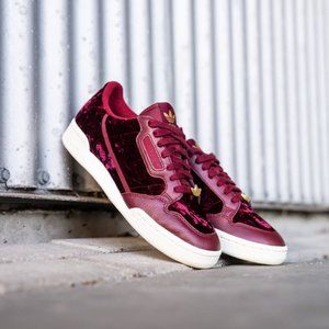 Adidas CONTINENTAL 80 SHOES Burgundy Sneakers